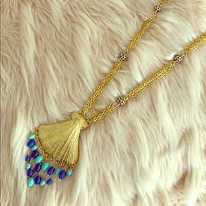 Lilly Pulitzer Gold Seashell Necklace